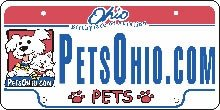 Ohio Pet Fund License Plate Image